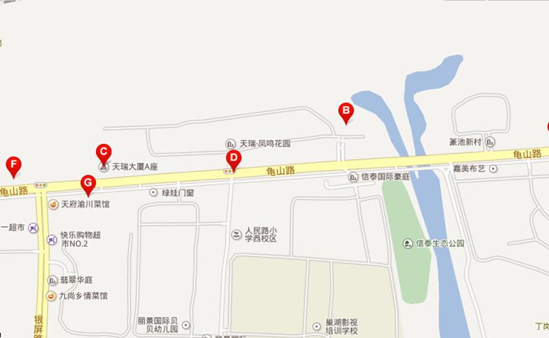 天瑞凤鸣花园交通图