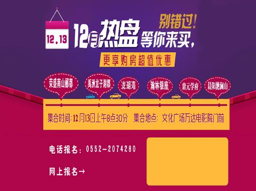 【12月13日】蚌埠12月热盘等你来买