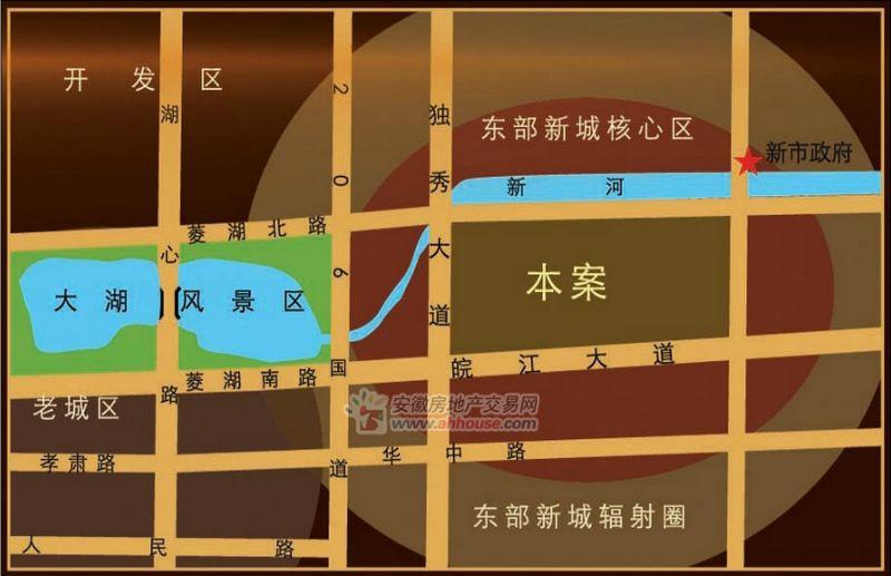 绿地四期新里-卢浮公馆交通图