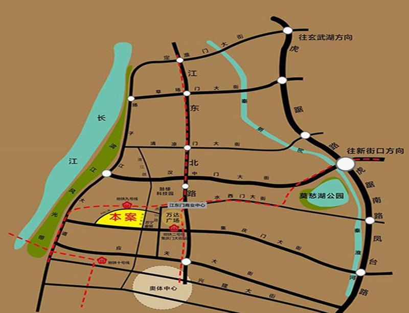 南京越洋国际商务中心交通图