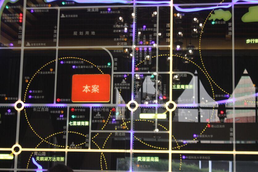 蓝光禹洲城耍街交通图