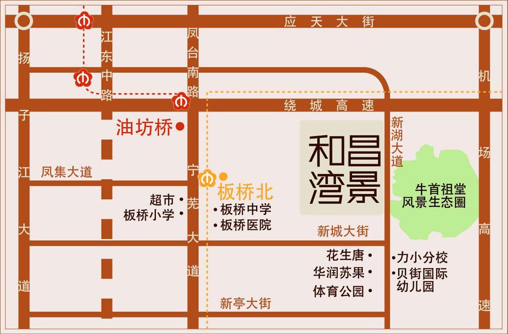 和昌湾景交通图