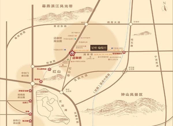 星叶瑜憬湾交通图