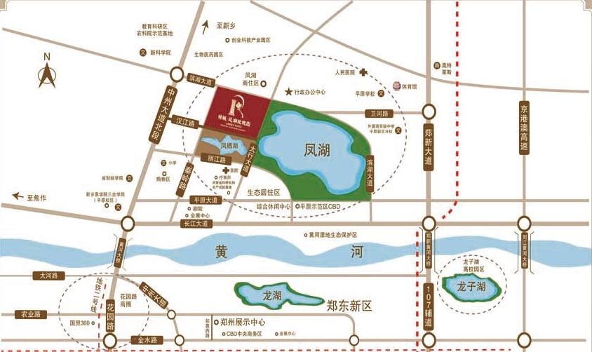 绿城凤湖玫瑰园交通图
