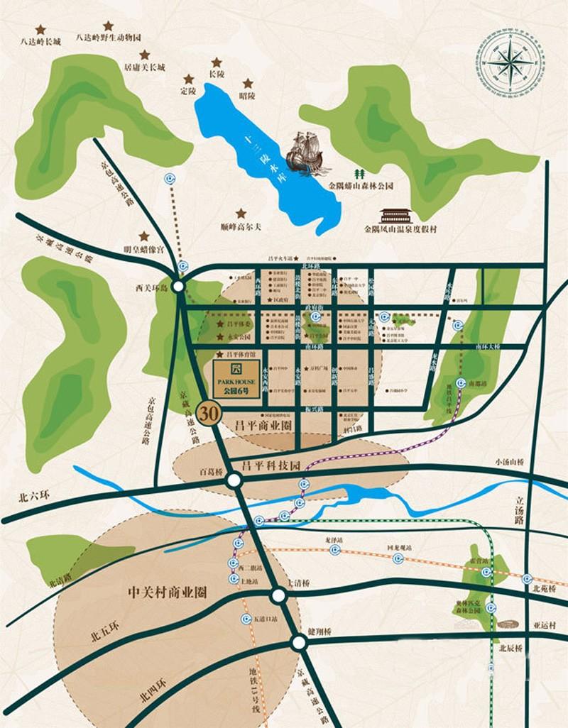 公园6号交通图