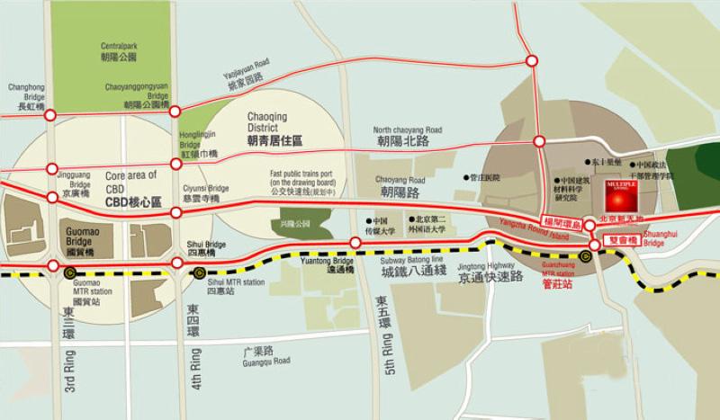 北京新天地交通图