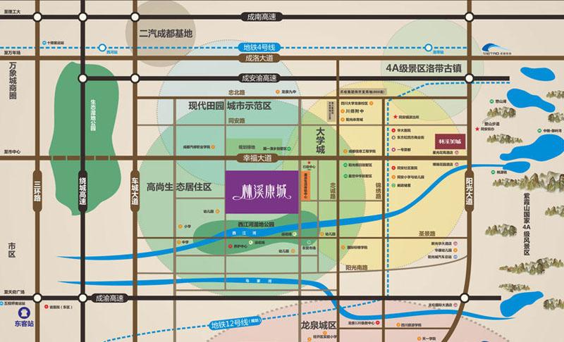 林溪康城交通图