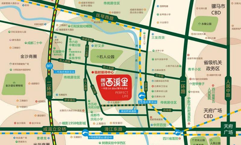 朗诗西溪里交通图