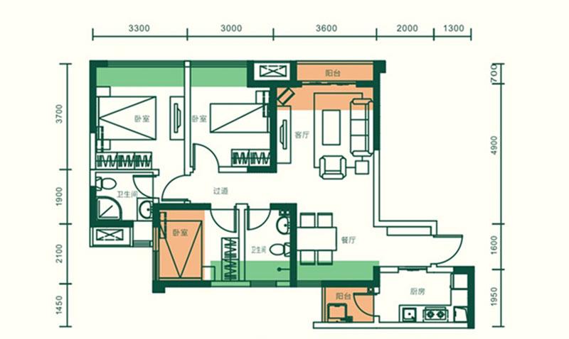 朗诗西溪里_3室2厅2卫1厨