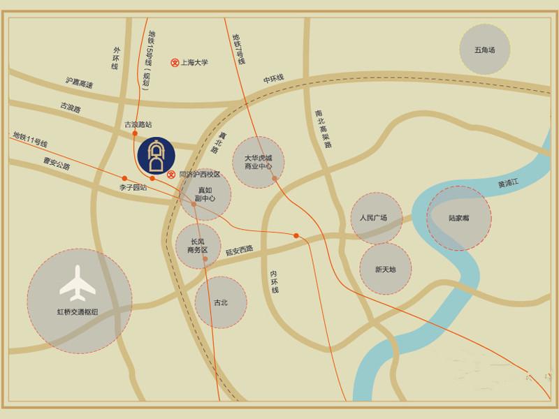 祥和王宫交通图