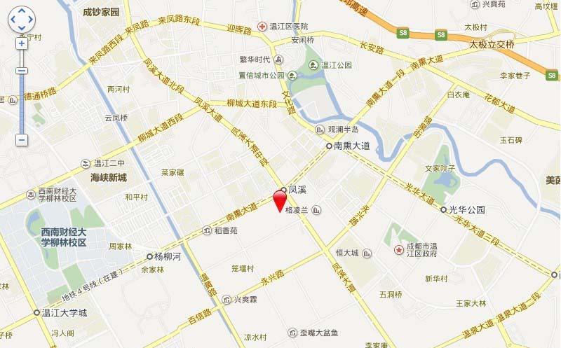 和信孔雀城交通图