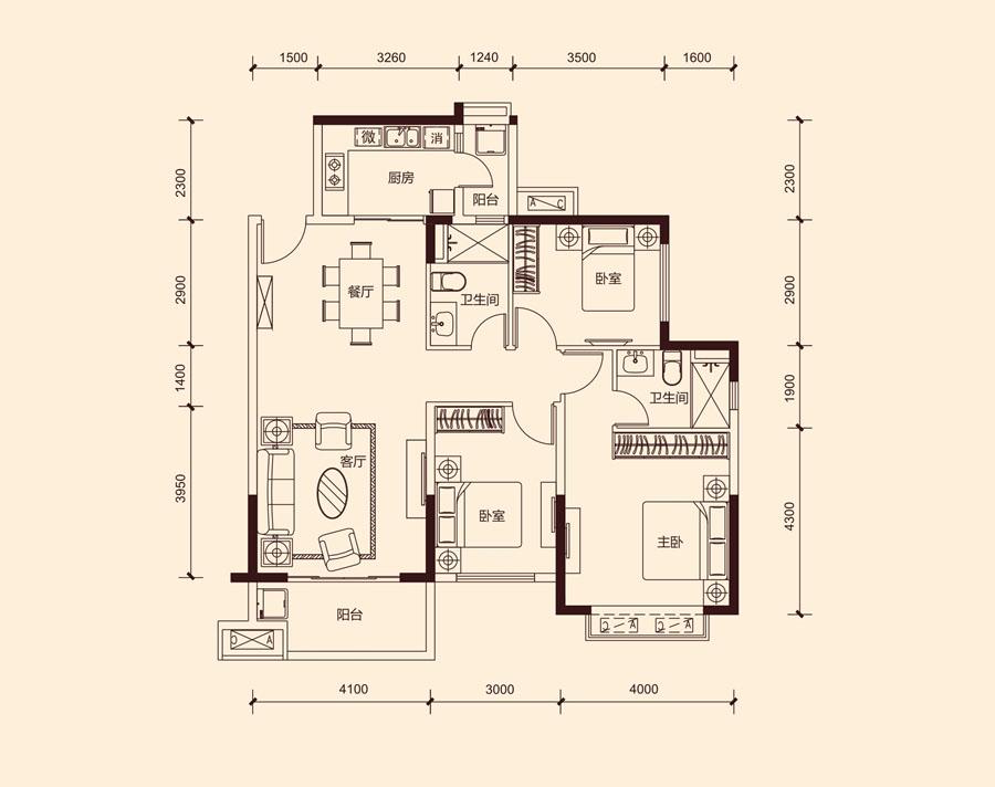恒大中央广场_3室2厅2卫1厨