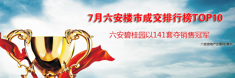 7月六安楼市成交排行榜TOP碧桂园夺冠