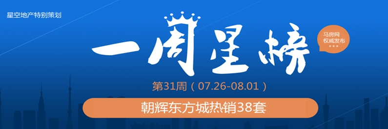 第31周一周星榜:朝辉东方城热销38套夺冠