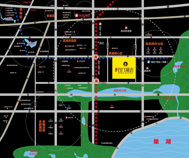 文一·名门湖语交通图