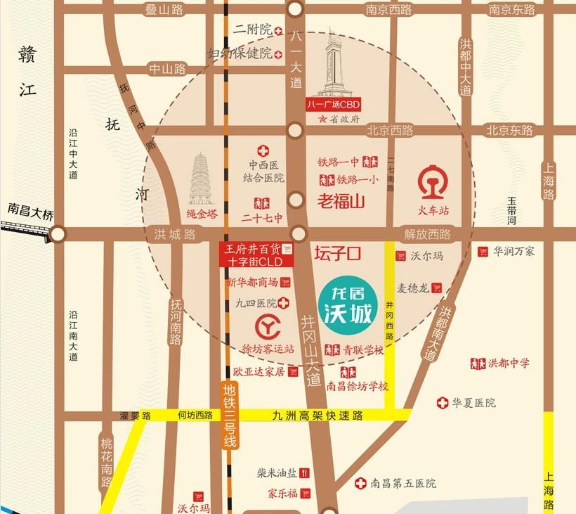龙居沃城交通图