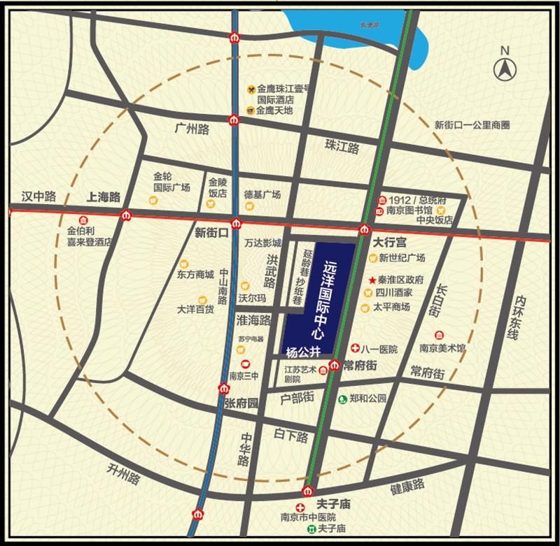 远洋国际中心交通图