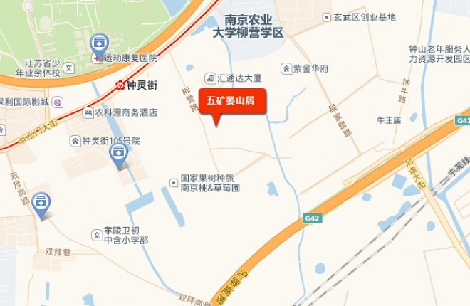 五矿晏山居交通图