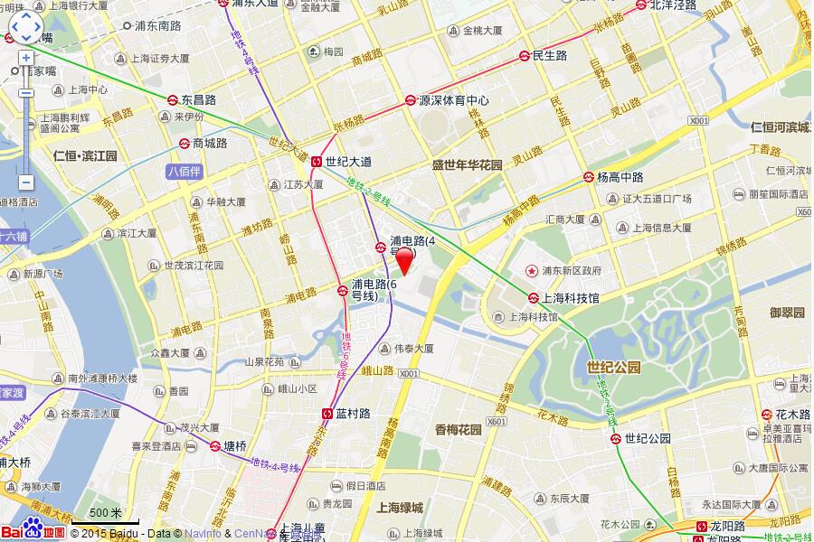 仁恒公园世纪交通图