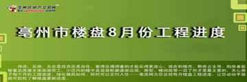 亳州市楼盘8月份工程进度