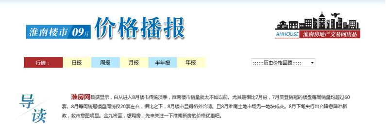 """金九买房正当时 淮南新房价格播报抢""""鲜""""看"""