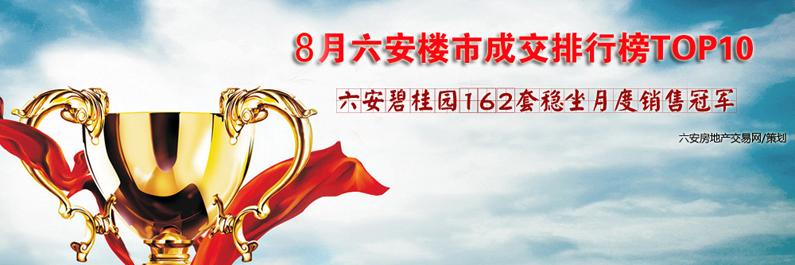 8月六安宅销排行榜*0 六安碧桂园*