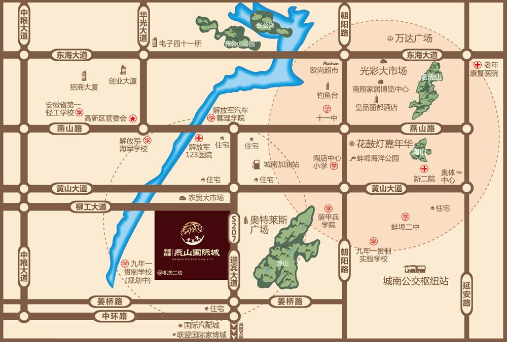 中国铁建·燕山国际城交通图