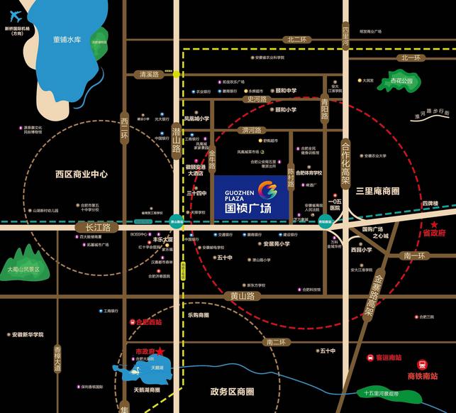 国祯广场交通图