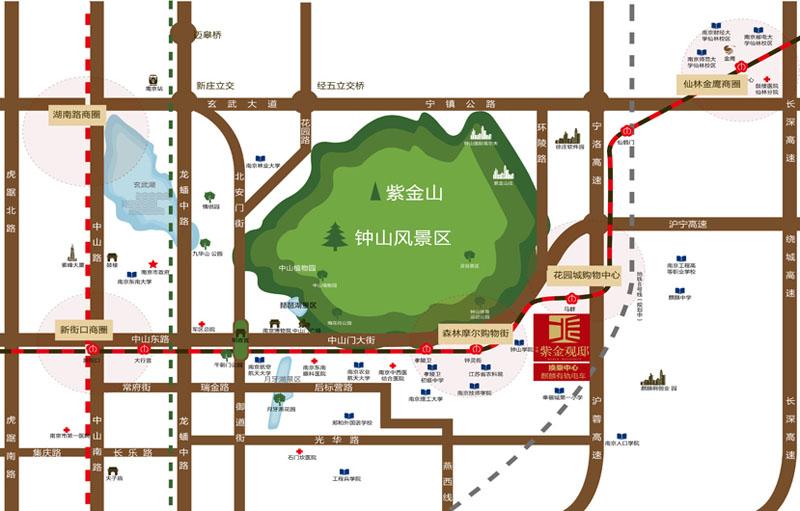 中垠紫金观邸交通图