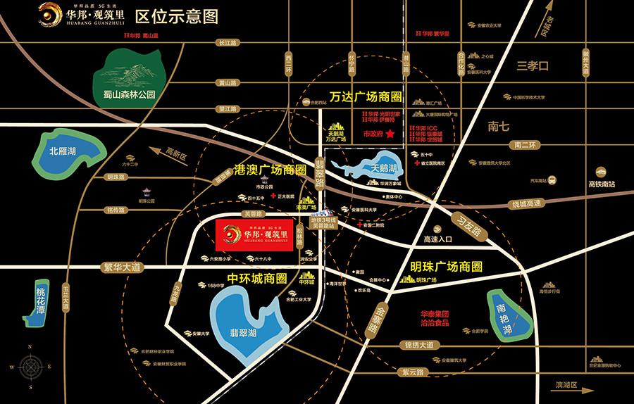 华邦观筑里交通图