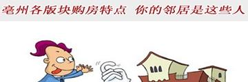 专题:亳州四大版块购房特点