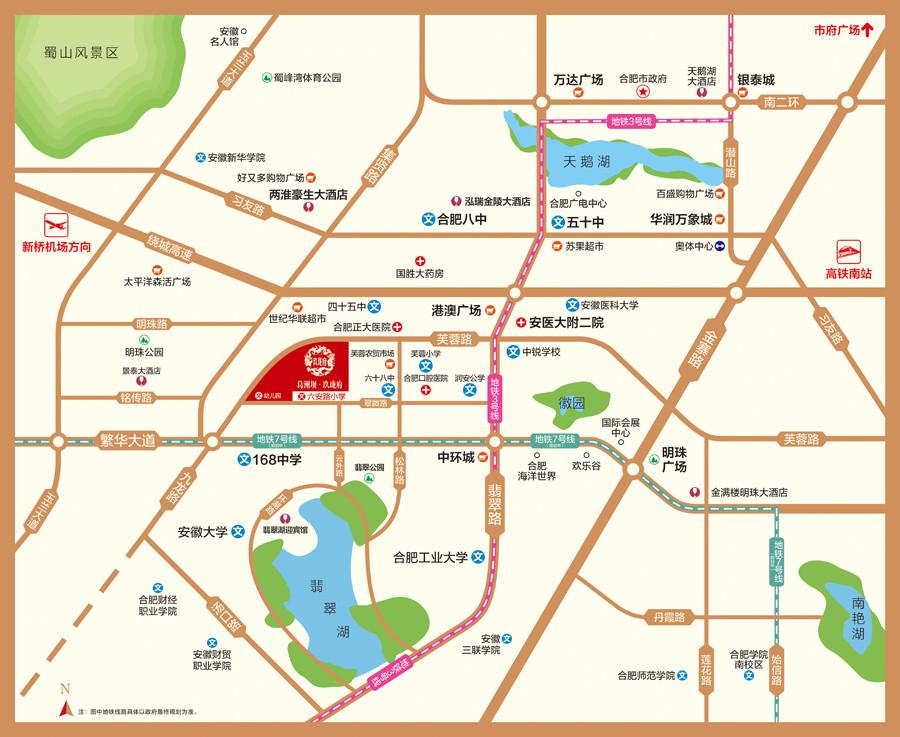 葛洲坝•玖珑府交通图