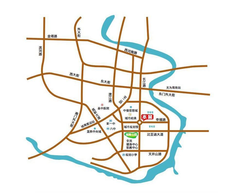 无为城市广场交通图