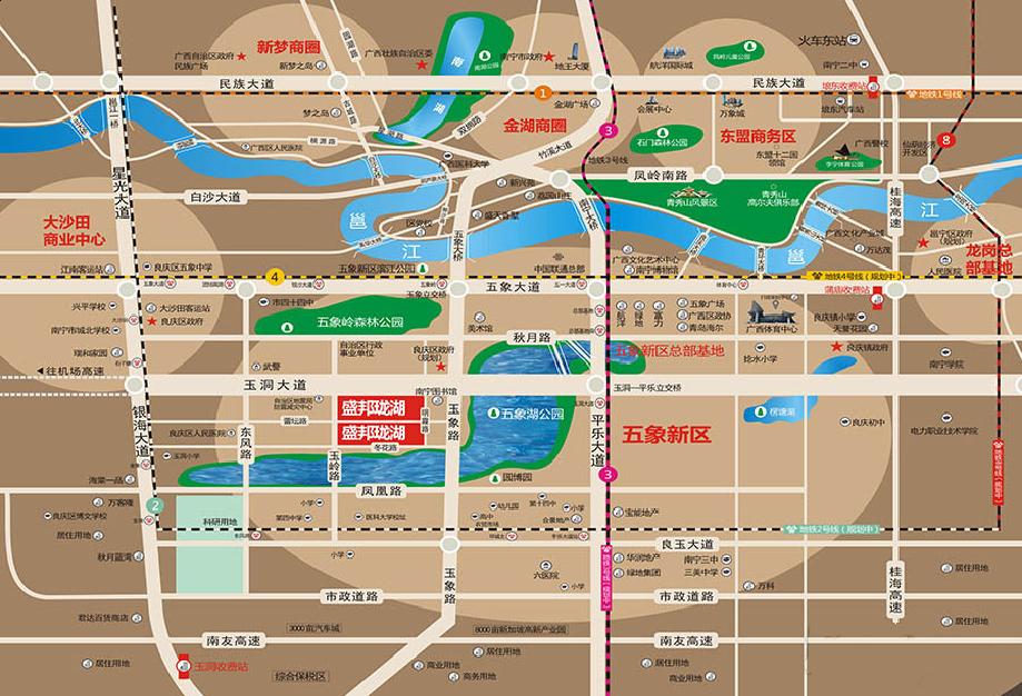 盛邦珑湖交通图