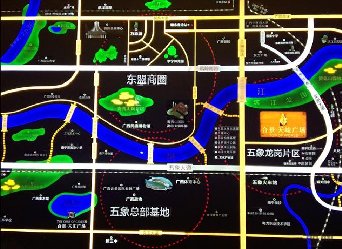 合景·天峻广场交通图