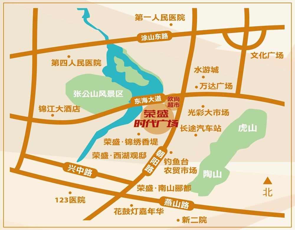 荣盛时代广场交通图