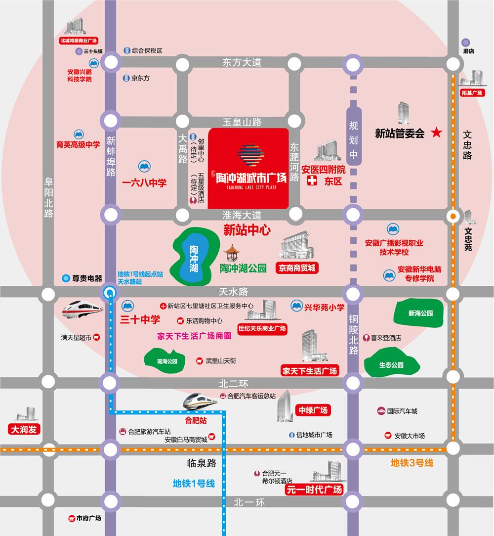 文一陶冲湖城市广场交通图