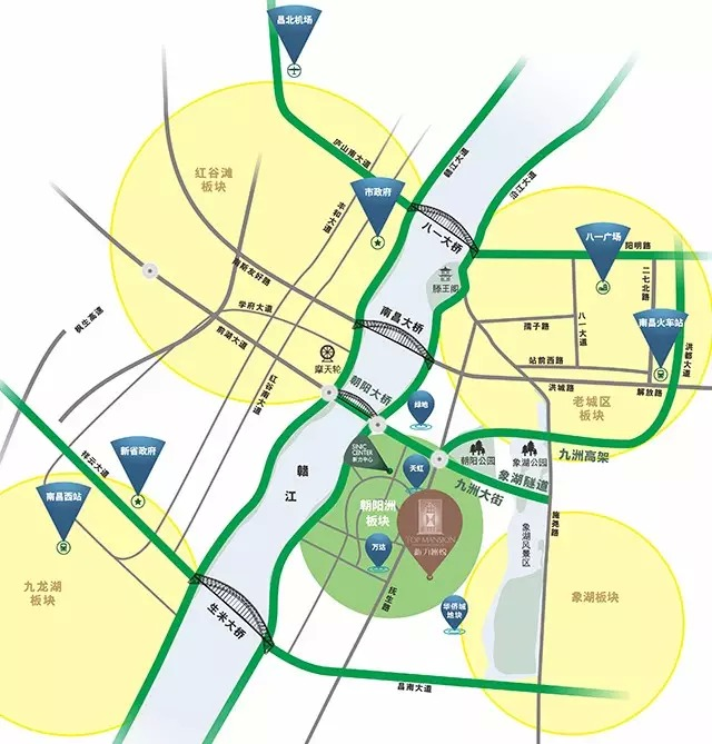 新力洲悦交通图