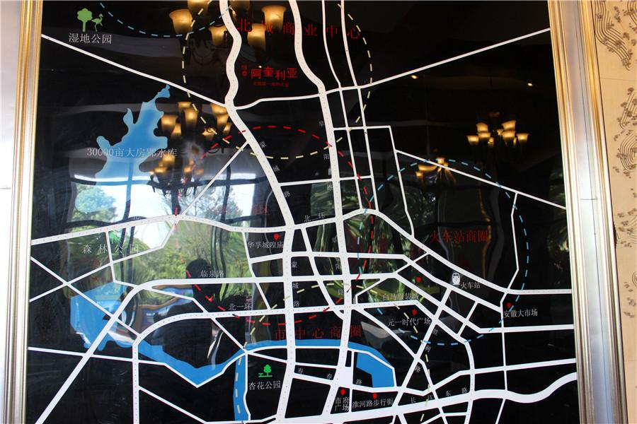恒泰城宫交通图