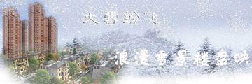 亳州浪漫雪景与楼盘辉映