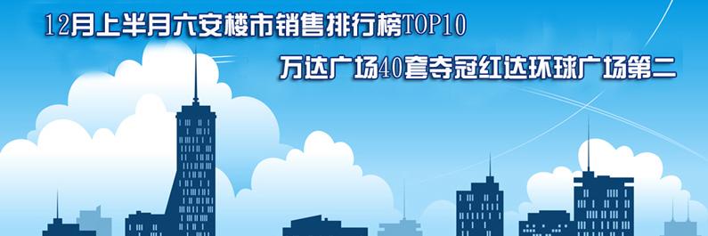 12月上半月宅销排行榜 万达广场40套夺冠