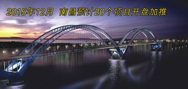 2015年12月南昌预计20个项目开盘加推