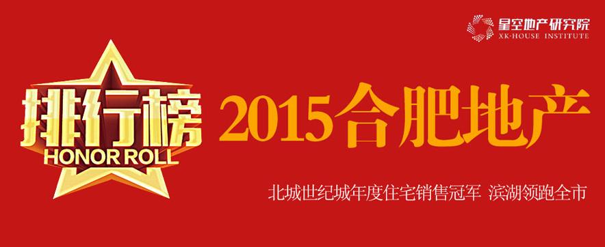 2015年度合肥楼市排行榜