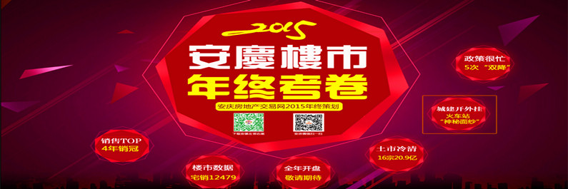 *策划:安庆这一年 2015安庆楼市年终考卷