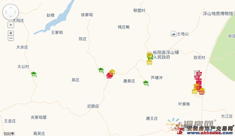 浮山旅游大市场交通图