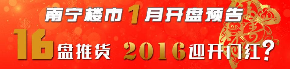 南宁楼市1月开盘预告:16盘推货2016迎开门红?