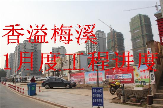 地矿香溢梅溪1月工程进度 东面宅基建*二层