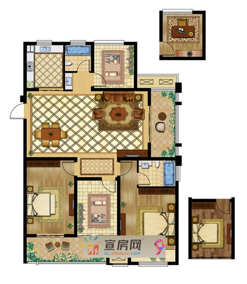 香江金郡_3室2厅1卫1厨