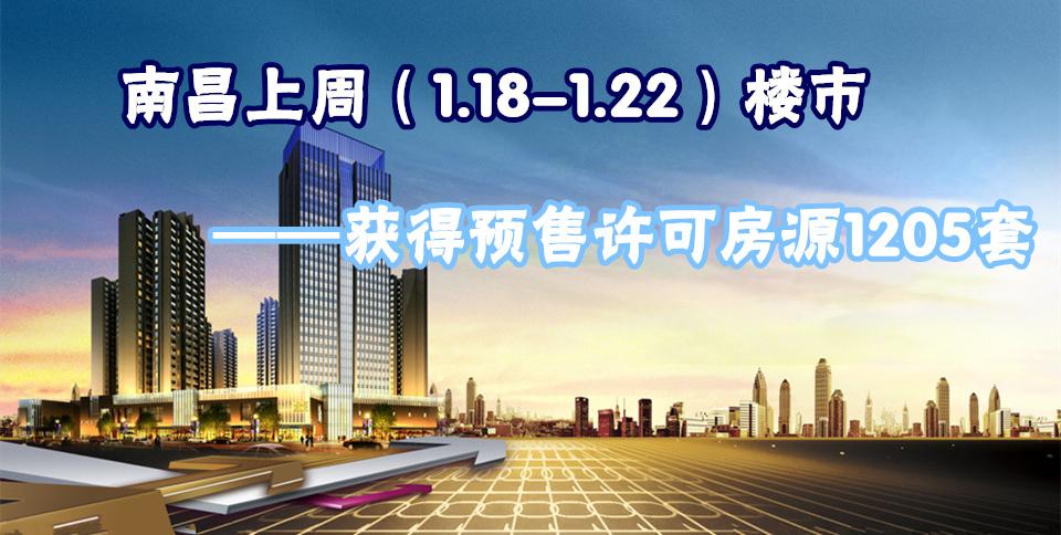 南昌1.18-1.22获预售许可房源1205套