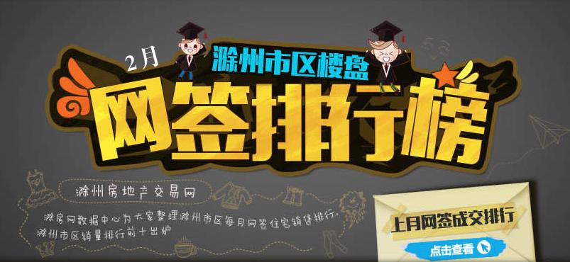 滁州楼市2月网签排名:凯迪塞纳河畔夺冠